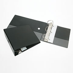 """SKILCRAFT® Slant-D Ring Binder - w/o Overlay - 5"""" - Black"""