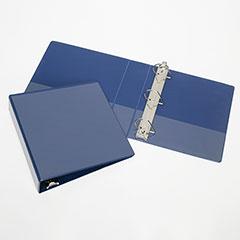 """Slant-D Ring View Binders - 1-1/2"""" Capacity - Blue"""