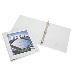 """Framed Slant-D Ring View Binder - 1/2"""" Capacity - White"""
