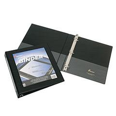 "Framed Slant-D Ring View Binder - 1-1/2"" Capacity - Black"