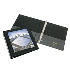 "Framed Slant-D Ring View Binder - 1"" Capacity - Black"