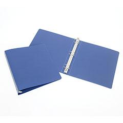 "3-Ring Flexible Poly Binder - 1/2"" Capacity - Blue"