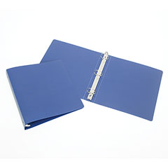 "3-Ring Flexible Poly Binder - 1"" Capacity - Blue"