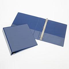 "Round Ring View Binders - 1-1/2"" Capacity - Blue"