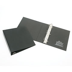 """Recyclable D-Ring Binder - 1-1/2"""" Capacity - Black"""