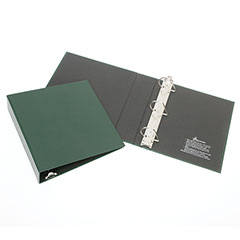 """Recyclable D-Ring Binder - 1"""" Capacity - Green"""