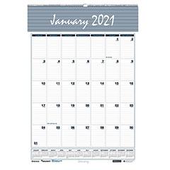 """12-Month Wall Calendars - Wirebound - 2021 - 12"""" x 17"""""""