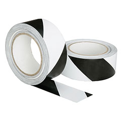 Floor Safety Tape - Black/White Stripe