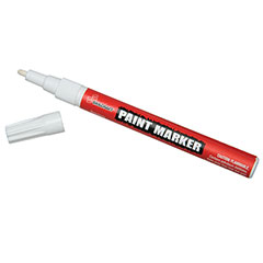 Paint Markers - Fine Point - w/o Rubber Grip - White