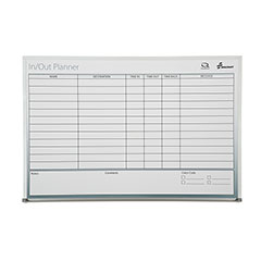 Quartet®/SKILCRAFT® Dry Erase Non-Magnetic In/Out Planner Board