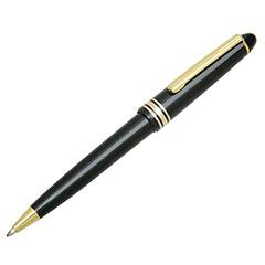 Push Cap Ballpoint Pen - Medium Point - Black Barrel/Black Ink