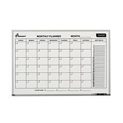 Quartet®/SKILCRAFT® 1-Month Calendar Planner Board - Aluminum Frame