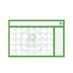 Erasable Custom Wall Calendar - 1 Month Calendar