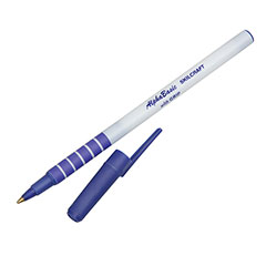 AlphaBasic Ballpoint Pen with Grip - Blue Ink