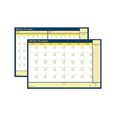 """Reversible and Erasable Non-Dated 30/60 Day Flexible Planner - 42"""" W x 32"""" L"""