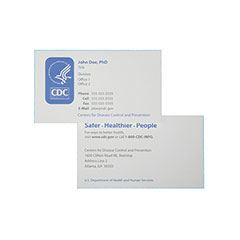 Printed Business Cards - Standard Paper - 2 Side Printing - Multi-Color Printing