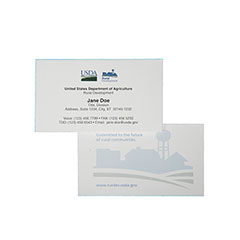 Printed Business Cards - Thermographic, Shell - 1 Side Printing - 2-Color Logo Printing