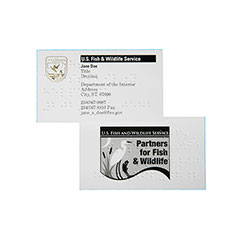 Printed Business Cards - Braille Add-on Option - 1 Side Printing - Multi-Color Printing