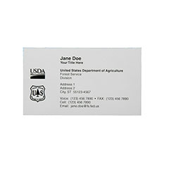 Printed Business Cards - Standard Paper - 1 Side Printing - 1-Color Printing