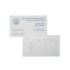 Printed Business Cards - Standard Paper - 2 Side Printing - 1-Color Printing