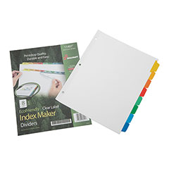 Index Maker® Dividers - 8 Tab - Multi-Color