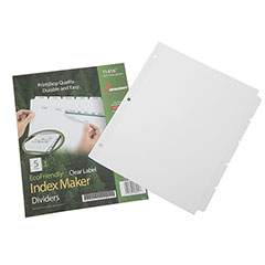 Index Maker® Dividers - 5 Tab - White
