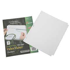 Index Maker® Dividers - 8 Tab - White