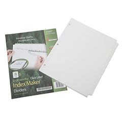 Index Maker® Dividers - 8 Tab - 5 Set Pack - White