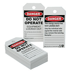 SKILCRAFT® Lockout Tagout Tags