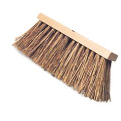 Street Broom - Natural Color Bristles