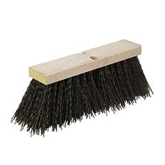 Street Broom - Brown Bristles