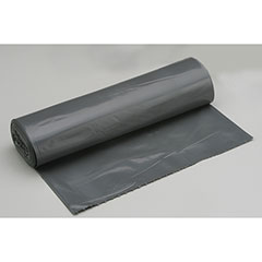 "Coreless Roll Can Liners - Medium Duty - 38"" x 58"" - Gray"