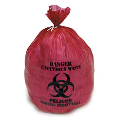 """Medical Isolation Bags Puncture and Tear Resistant Linear Low Density  - Infectious Waste Collection - 33"""" x 40"""""""