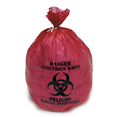 """Medical Isolation Bags Puncture and Tear Resistant Linear Low Density  - Infectious Waste Collection - 30-1/2"""" x 43"""""""