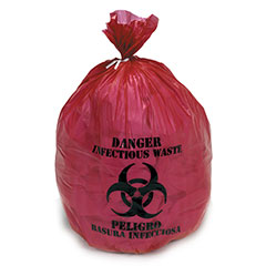 """Medical Isolation Bags Puncture and Tear Resistant Linear Low Density  - Infectious Waste Collection - 37"""" x 50"""""""