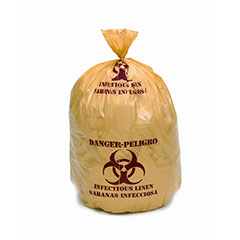 """Medical Isolation Bags Puncture and Tear Resistant Linear Low Density  - Infectious Linen Collection - 30-1/2"""" x 43"""""""