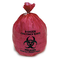 """Medical Isolation Bags Puncture and Tear Resistant Linear Low Density  - Infectious Waste Collection - 40"""" x 47"""""""