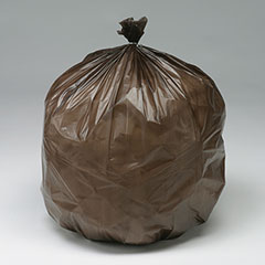 """""""CLC"""" Controlled Life-Cycle Plastic Bags - Heavy Duty - 30"""" x 36"""" - Brown"""
