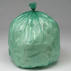 """""""CLC"""" Controlled Life-Cycle Plastic Bags - Extra Heavy Duty - 33"""" x 40"""" - Green"""
