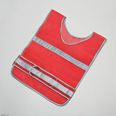 High Visibility Safety Vest Orange with Silver Reflective Tape
