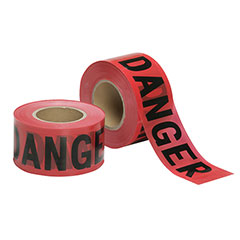 Barricade Tape - Danger - Economy Grade - 2mil thick - Red