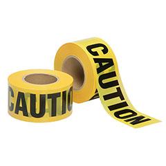 Barricade Tape - Caution - Economy Grade - 2mil thick - Yellow