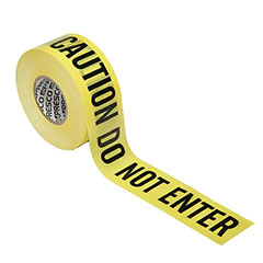 Barricade Tape - Caution Do Not Enter - Premium Grade - 3mil thick - Yellow