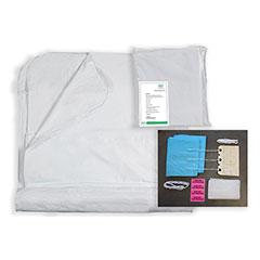 """Post Mortem Bag Kit - 72"""" x 90"""" - 10mil thick, wrap-around zipper, heavy-duty, XL, 17 Piece Kit"""