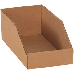 "Kraft Bin Boxes - 9"" Deep"