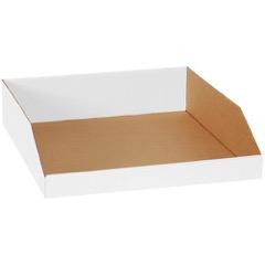 """White Bin Boxes - 18"""" Deep"""