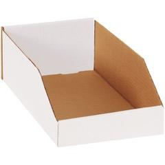 """White Bin Boxes - 15"""" Deep"""