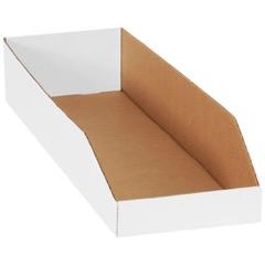 """White Bin Boxes - 24"""" Deep"""