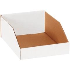 """White Bin Boxes - 12"""" Deep"""