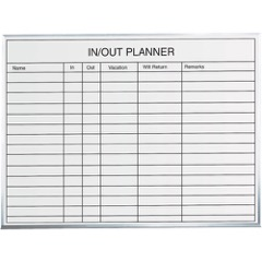 3 x 2' In/Out Staff Dry Erase Board